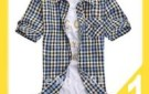2012-hot--dropship-plaid-basic-short-sleeve-button-down-shirt-chinese-size-hot--y2022