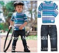 2013_new_arrival_free_shipping_children_boy_set_blue_striped_long_sleeve_t_shirt_blue_jeans_two_piece_child_boy_suit_autumn.jpg_200x200