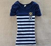 2013_women_s_fashion_slim_gentlewomen_cotton_t_shirts_tops_dress_stripe_short_sleeve_o_neck_tee_t_shirts_szd865.jpg_200x200_0