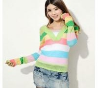 9108-fashion-women-colorful-stripy-v-neck-long-sleeved-knit-top-woolen-sweater-t-shirt-top