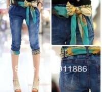 best-selling-fashion-female-2013-summer-roll-up-hem-jeans-capris-with-blue-present-silk-belt.jpg_350x350