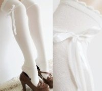 combed-high-quality-combed-cotton-women-s-socks-cosplay-female-bowknot-lace-over-knee-long-socks