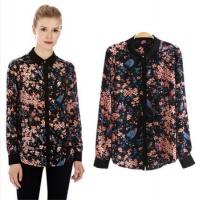 cs0677_spring_summer_fashion_black_bird_animal_flower_print_shirt_loose_long_sleeve_chiffon_casual_blouse_european_style_women