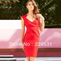 fashion-chest-sexy-pleated-v-neck-tube-top-slim-hip-ti