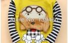 free-ship-kid-girl-boys-baby-children-clothes-fashion-orange-dog-print-cotton-hoodies-outwears-sweatsshirts