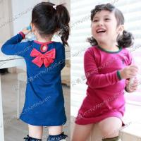 free-shipping-2013-spring-aesthetic-bow-girls-clothing-baby-child-long-sleeve-dress-qz-0172