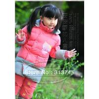 free-shipping-2013-winter-down-jacket-kids-for-boys-girls-cute-little-dinosaur-clothing-set-feather