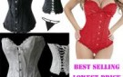 free-shipping-black-sleepwear-sexy-women-lace-tops-steel-bustier-lingerie-overbust-corset-dresses-s-m