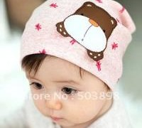 free-shipping-lovely-baby-hat-catoon-dog-children-caps-unisex-beanie-6-colours