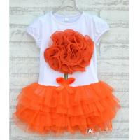 free-shipping-new-3pcs-lot-baby-girl-flower-one-piece-dress-kids-summer-short-sleeve-layered