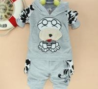 free-shipping-spotted-dog-kids-children-s-clothes-boys-girls-sport-suits-baby-clothes
