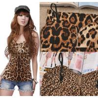 free-shipping-with-cups-factory-fashion-lady-s-high-quality-metal-zipped-leopard-vest-tank-top