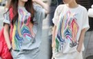 free-shipping-womens-loose-colorful-zebra-round-neck-short-1253