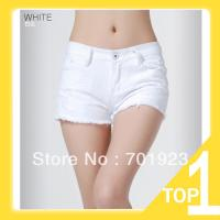 holiday-sale-free-shipping-2013-women-white-summer-denim-short-wahsed-destroyed-hot-clubwear-short-y6162