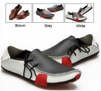 mens-casual-shoes-genuine-leather-driving-moccasins-slip-on-white-brown-grey-new