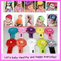 new-crochet-headband-gerbera-daisy-flower-clip-aligator-grip-children-headbands-kid-s-accessories-free-shipping