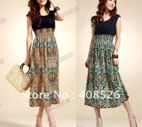 new-womens-lady-vintage-cotton-chiffon-sleeveless-bohemian-high-waist-skirt-long-dress-orange-blue-free