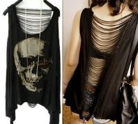vintage-tassel-open-back-skull-punk-singlet-tank-top-long-tee-t-shirt-sexy-lady