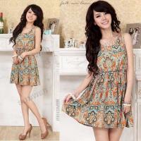 women-s-cotton-totem-sleeveless-elastic-waist-short-mini-vest-bohemian-dress-orange-free-shipping-9743